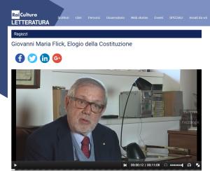 Elogio della Costituzione - Intervista Rai Letteratura